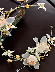 cheap -Alloy Flowers with Flower 1pc Wedding / Special Occasion Headpiece