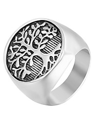 cheap -Men's Band Ring Signet Ring 1pc Silver Stainless Steel Punk Trendy Hip-Hop Daily Street Jewelry Sculpture Cool