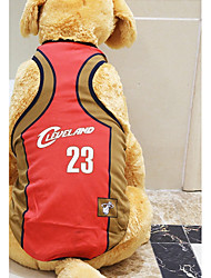 cheap -Rodents Dogs Cats Jersey Vest Dog Clothes Simple Flag Letter & Number Yellow Red Light Green Net Costume For Husky Labrador Alaskan Malamute All Seasons Female Sports & Outdoors Stylish