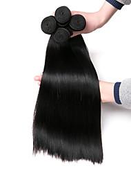 cheap -4 Bundles Hair Weaves Brazilian Hair Straight Human Hair Extensions Remy Human Hair 100% Remy Hair Weave Bundles 400 g Natural Color Hair Weaves / Hair Bulk Human Hair Extensions 8-28 inch Natural