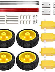 Недорогие -комплект автомобильных колесных ключей keyestudio / tt motor wheel, крепление, винт