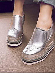cheap -Women's Loafers & Slip-Ons Creepers Nappa Leather Comfort Spring & Summer Silver / Red