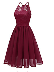 cheap -Daily Going out Elegant Slim Sheath Dress Lace Strap Summer Pink Navy Blue Wine L XL XXL