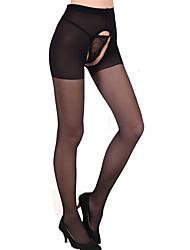 Недорогие -Жен. Тонкая ткань Колготы - Сексуальные платья 30D Черный Один размер
