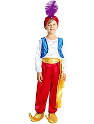 cheap -Cosplay Costume Boys' Kid's Halloween Halloween Carnival Children's Day Festival / Holiday Polyster Outfits Fuchsia Solid Colored Halloween
