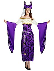 cheap -Egyptian Costume Adults Highschool Women's Halloween Costume For Polyster Solid Colored Halloween Halloween Carnival Masquerade Leotard / Onesie Headwear