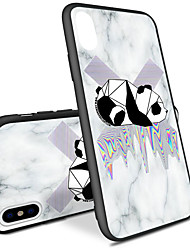 cheap -Case For Apple iPhone X / iPhone 8 Plus / iPhone 8 Pattern Back Cover Geometric Pattern / Animal Hard Acrylic