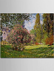 cheap -Oil Painting Hand Painted - Famous Landscape Modern Stretched Canvas