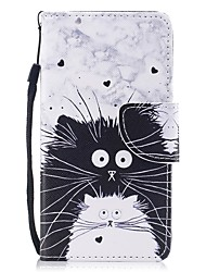 cheap -Case For Apple iPhone 8 / iPhone 7 Wallet / Card Holder / Flip Full Body Cases Cat Hard PU Leather