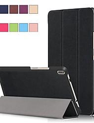 Недорогие -Кейс для Назначение Lenovo Lenovo Tab 4 8 Plus / Lenovo Tab 4 8 со стендом / Магнитный Чехол Однотонный Твердый Кожа PU