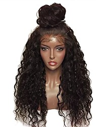 cheap -Synthetic Lace Front Wig Curly Layered Haircut Lace Front Wig Medium Length Dark Wine Natural Black Synthetic Hair 24 inch Women's curling Red Black
