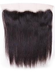 abordables -Cheveux Brésiliens 4x13 Fermeture Droit Dentelle Suisse Cheveux humains Femme / Tous Meilleure qualité / 100% vierge / Fermeture de dentelle Noël / Regalos de Navidad / Mariage
