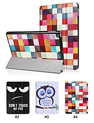 cheap -Case For Apple iPad (2018) with Stand Full Body Cases Word / Phrase / Cartoon / Owl Hard PU Leather