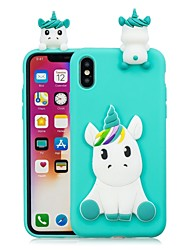 cheap -Case For Apple iPhone X / iPhone 8 Plus / iPhone 8 DIY Back Cover Unicorn / Cartoon Soft TPU