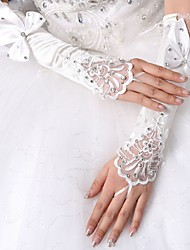 cheap -Spandex Fabric Elbow Length Glove Vintage Style / Gloves With Trim