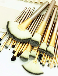 cheap -Professional Makeup Brushes Makeup Brush Set 24pcs Eco-friendly Professional Soft Full Coverage Comfy Artificial Fibre Brush Wooden / Bamboo for
