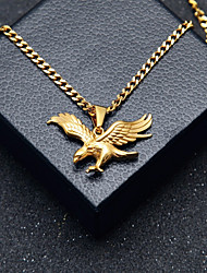 cheap -Men's Pendant Necklace Chain Necklace Stylish Cuban Link Eagle Stylish European Hip-Hop Steel Stainless Gold 60 cm Necklace Jewelry 1pc For Gift Street
