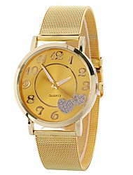 cheap -Women's Wrist Watch Quartz Stainless Steel Silver / Gold Chronograph Creative Lovely Analog Ladies Heart shape Bangle - Gold Silver One Year Battery Life