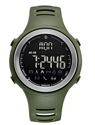 cheap -Men's Sport Watch Digital Watch Digital Rubber Black / Clover 50 m Water Resistant / Waterproof Bluetooth Calendar / date / day Digital Casual Fashion - Black Green One Year Battery Life / LCD
