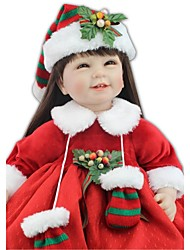 cheap -NPKCOLLECTION 24 inch NPK DOLL Reborn Doll Indian Girl Reborn Toddler Doll Gift Cute Artificial Implantation Brown Eyes Cloth 3/4 Silicone Limbs and Cotton Filled Body with Clothes and Accessories