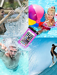 cheap -Case For Apple iPhone X / iPhone 8 Plus / iPhone 8 Waterproof Pouch Bag Solid Colored Soft TPU