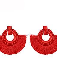 cheap -Women's Drop Earrings Raffia Earrings Tassel Ladies Tassel Earrings Jewelry Red / Pink / Light Blue For Gift Daily 1 Pair