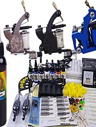 cheap -OPHIR Tattoo Machine Starter Kit - 1 pcs / 2 pcs Tattoo Machines with 7 x 10 ml tattoo inks, Professional Analog power supply 1 cast iron machine liner & shader, 2 rotary machine liner & shader
