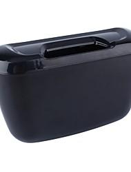 cheap -ZIQIAO Vehicle Car Auto Trash Rubbish Can Dust Garbage Bin Storage Box Container - Black