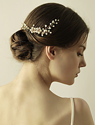 cheap -Beaded / Alloy Hair Combs with Faux Pearl 1 Piece Wedding / Special Occasion Headpiece