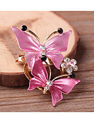 cheap -Women's Brooches Classic Butterfly British Oversized Rhinestone Brooch Jewelry Fuchsia Lavender For Formal Festival