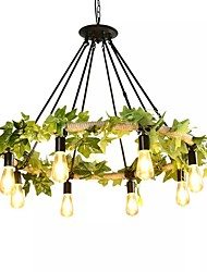 cheap -QIHengZhaoMing 8-Light Chandelier Ambient Light Painted Finishes Metal 110-120V / 220-240V Warm White Bulb Included / Bulb Not Included