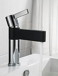 cheap -Bathroom Sink Faucet - New Design Chrome / Black Centerset Single Handle One HoleBath Taps
