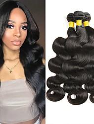 Недорогие -3 Связки Малазийские волосы Волнистый Натуральные волосы 300 g Человека ткет Волосы Удлинитель 8-28 дюймовый Черный Естественный цвет Ткет человеческих волос Новое поступление 100% девственница / 8A
