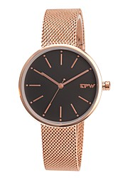 cheap -Women's Dress Watch Japanese Japanese Quartz Stainless Steel Genuine Leather Black / White / Blue 30 m Water Resistant / Waterproof Creative Analog Ladies Casual Minimalist - Brown Blue Rose Gold One