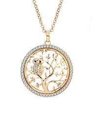 cheap -Women's AAA Cubic Zirconia Statement Necklace Rope Tree of Life life Tree Ladies Holiday Aristocrat Lolita Folk Style Rhinestone Alloy Gold Silver Rose Gold 65 cm Necklace Jewelry 1pc For Gift