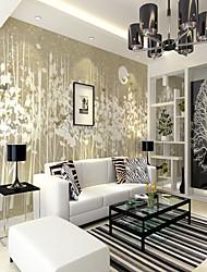 cheap -Bird Flower Arrangement Leaf Art Map Custom Wall Covering 3D Mural Wallpaper Suitable for Living Room Bedroom