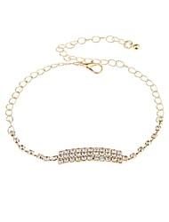 cheap -Women's Chain Bracelet Single Strand Mini Fashion Cute Alloy Bracelet Jewelry Gold / Silver For Holiday Festival