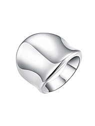 cheap -Women's Band Ring thumb ring Silver Silver Plated Alloy Ladies Unusual Unique Design Daily Jewelry