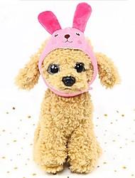 cheap -Rodents Dog Rabbits Hats, Caps & Bandanas Bandanas & Hats Character Costume Jewelry Dog Clothes White Yellow Fuchsia Costume Down S L