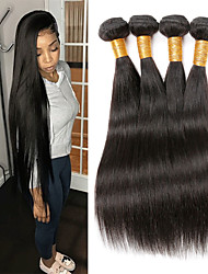 cheap -Remy Human Hair Hair weave Best Quality / New Arrival / Hot Sale Straight Peruvian Hair Mid Length 400 g 1 Year Dailywear / Wedding Party / Quinceañera & Sweet Sixteen