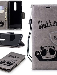 cheap -Case For Nokia Nokia 5 / Nokia 5.1 / Nokia 3 Wallet / Card Holder / with Stand Full Body Cases Panda Hard PU Leather