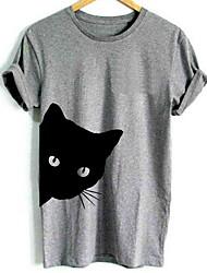 cheap -Men's T shirt Graphic Animal Short Sleeve Daily Tops Basic White Black Gray