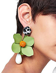 cheap -Drop Earrings Floral / Botanicals Flower Ladies Fashion Earrings Jewelry Red / Green / Royal Blue For Party Date Street