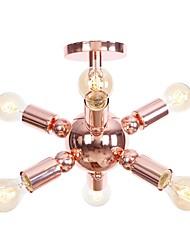 cheap -6-Light 33 cm Mini Style / New Design Flush Mount Lights Electroplated Chic & Modern / Country 110-120V / 220-240V / E26 / E27