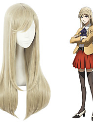 cheap -Cosplay Cosplay Cosplay Wigs All 10 inch Heat Resistant Fiber Brown Anime