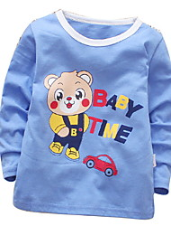 cheap -Baby Girls' Basic Print Long Sleeve Cotton Blouse Blue / Toddler