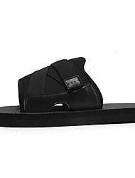 cheap -Men's Comfort Shoes Knit / Cotton Summer Slippers & Flip-Flops Black