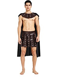 cheap -Soldier / Warrior Costume Men's Highschool Ancient Greek Ancient Rome Halloween Christmas Halloween Carnival Festival / Holiday Polyster Outfits Brown Solid Colored Halloween