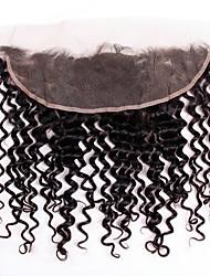 abordables -Cheveux Brésiliens 4x13 Fermeture Ondulé Dentelle Suisse Cheveux humains Femme Meilleure qualité / 100% vierge / curling Noël / Regalos de Navidad / Mariage