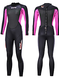 cheap -ZCCO Women's Full Wetsuit 3mm SCR Neoprene Diving Suit Thermal Warm Quick Dry Long Sleeve Back Zip - Swimming Diving Scuba Patchwork Fashion Autumn / Fall Winter Spring / Summer / High Elasticity